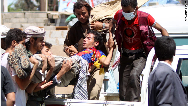 Security forces fire on protesters in Yemen