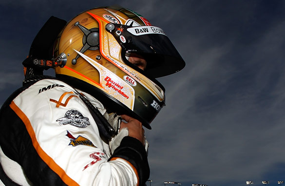 Dan Wheldon at the IndyCar World Championships in Las Vegas, prior to his fatal crash.