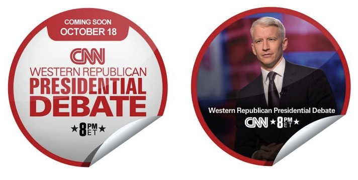 'Check in' to the CNN Western Republican Presidential Debate on GetGlue for Exclusive CNN/WRLC Stickers