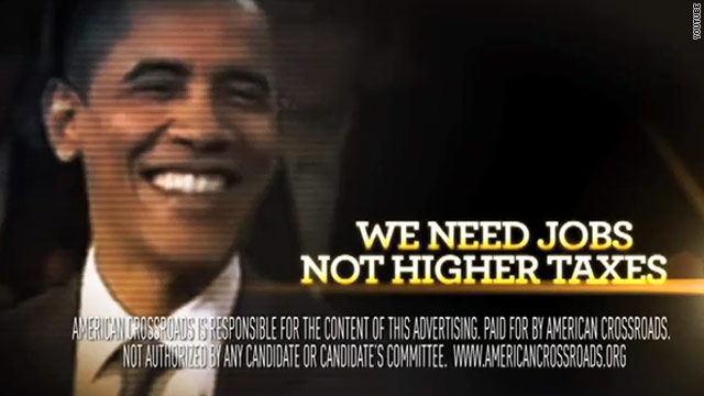 Obama goes after Rove group's ad