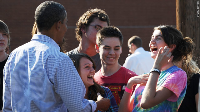 Forget Obama, student wants to meet Bieber