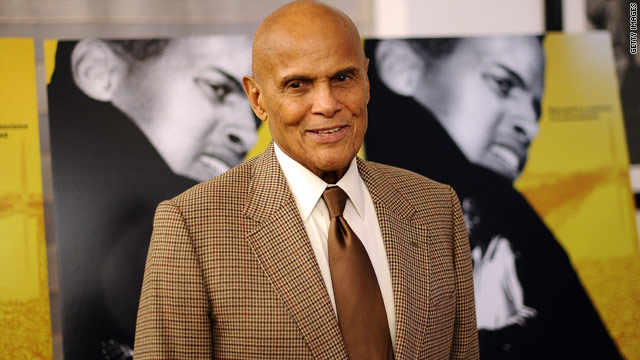 Harry Belafonte looks asleep live on air