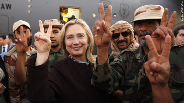 "Clinton sees the ""new Libya"""