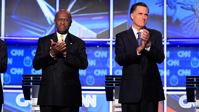 Polls: Romney, Cain compete at top in key battleground states