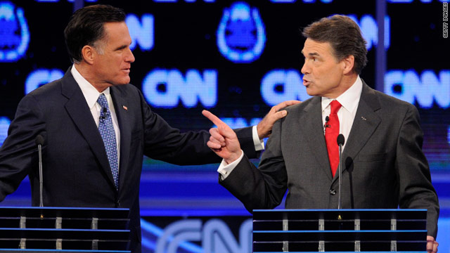 The spin on the Perry-Romney crossfire