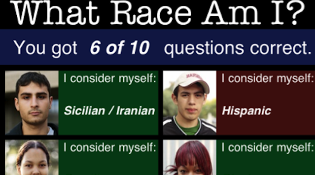 Racial identity becomes a guessing game - literally