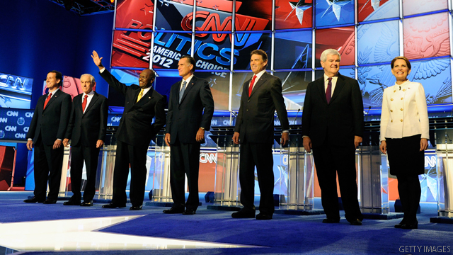 GOP presidential candidates react to Gadhafi