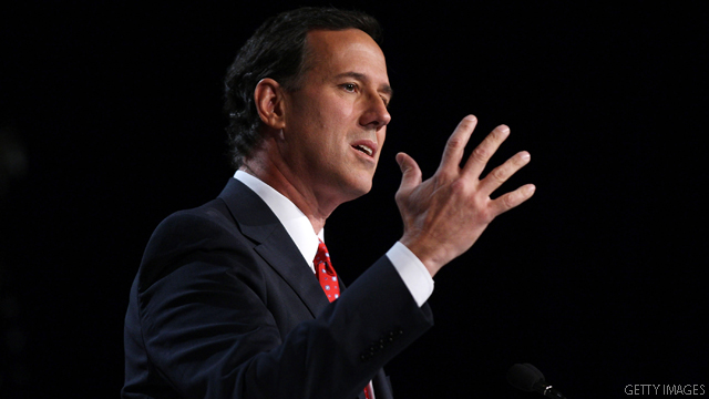Santorum gets testy as students raise social issues