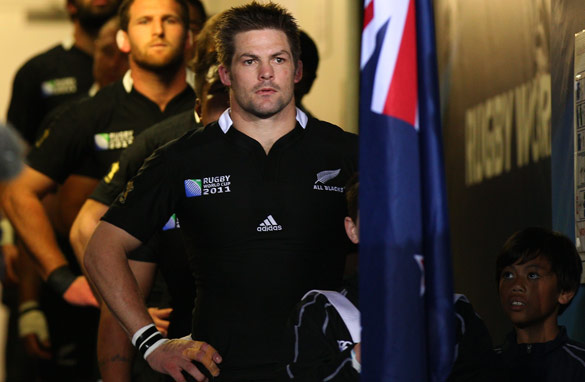 All Blacks captain Richie McCaw will be expected to lead New Zealand to glory in Sunday's Rugby World Cup final.