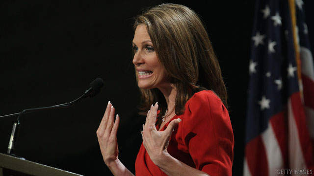 Cain &#039;flip-flops,&#039; Bachmann says
