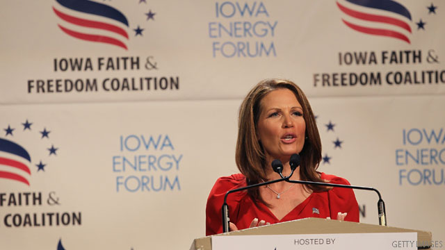 Bachmann stresses social conservatism, digs at Cain on abortion stance