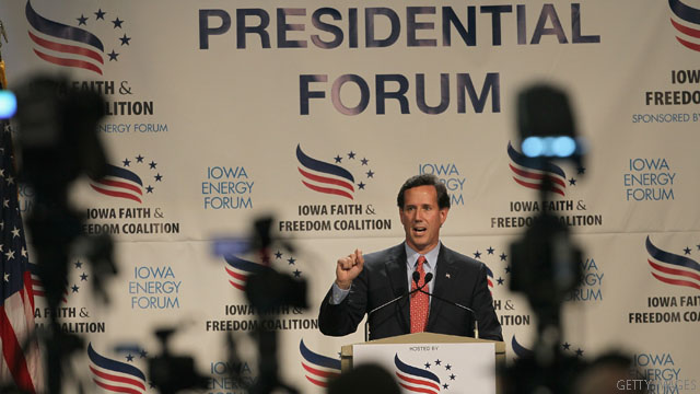 Santorum asks if Republican rivals can be trusted