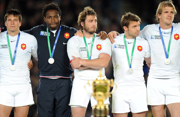 France can only look on as New Zealand are crowned Rugby World Cup champions.