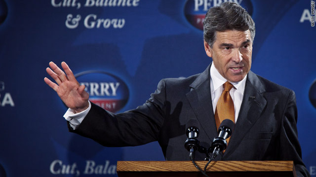 Perry takes sides in Ohio union fight after Romney dodges issue
