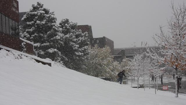Snow day for President Obama