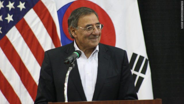 Panetta talks North Korea threat, troops talk spending cuts