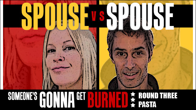 Spouse vs spouse: a noodle throwdown