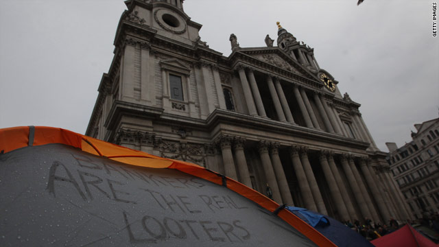 London cleric resigns amid Occupy cathedral protest