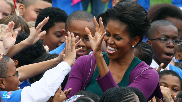 Poll: Michelle Obama's high marks