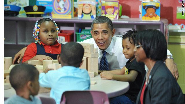 Obama gives kids a head start