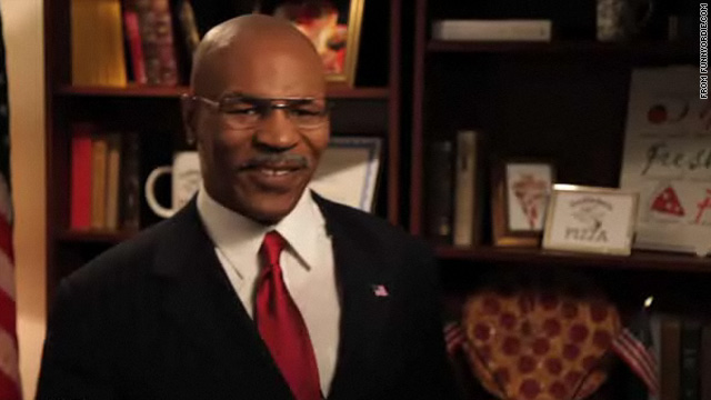 Mike Tyson steps into Herman Cain's shoes