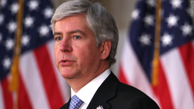 Leave bailouts out of it, Michigan governor says