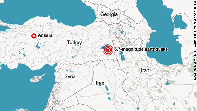 5.7-magnitude earthquake rocks eastern Turkey