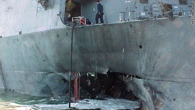 USS Cole bombing suspect makes no plea in hearing