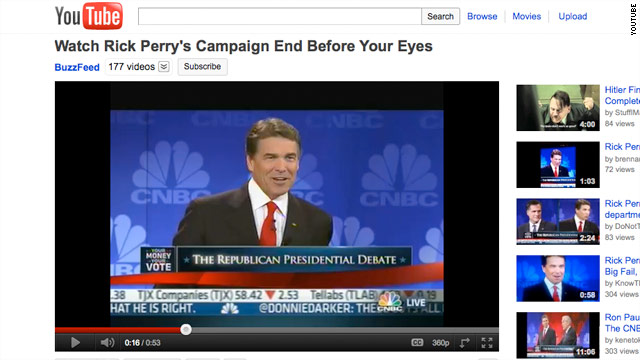 Perry's 'Oops' video tops YouTube