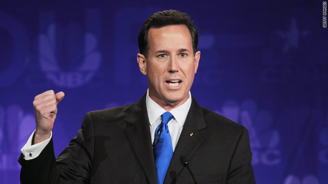 Santorum's 'oops' on Perry gaffe