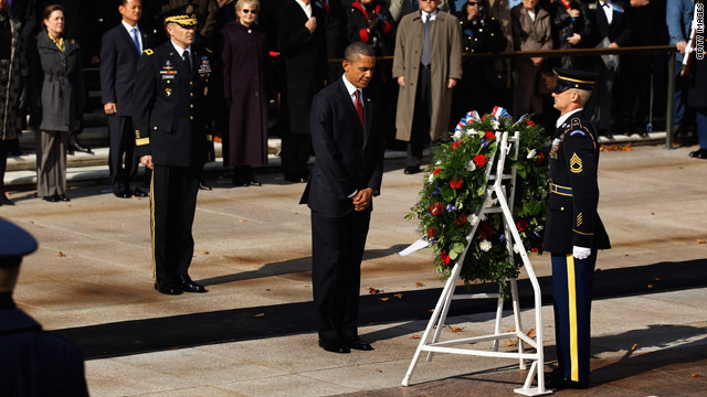 Obama honors Veterans Day