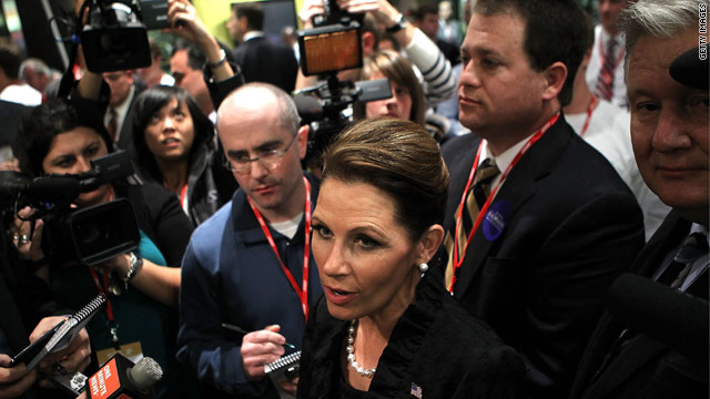 Bachmann cries &#039;bias&#039; after Saturday debate