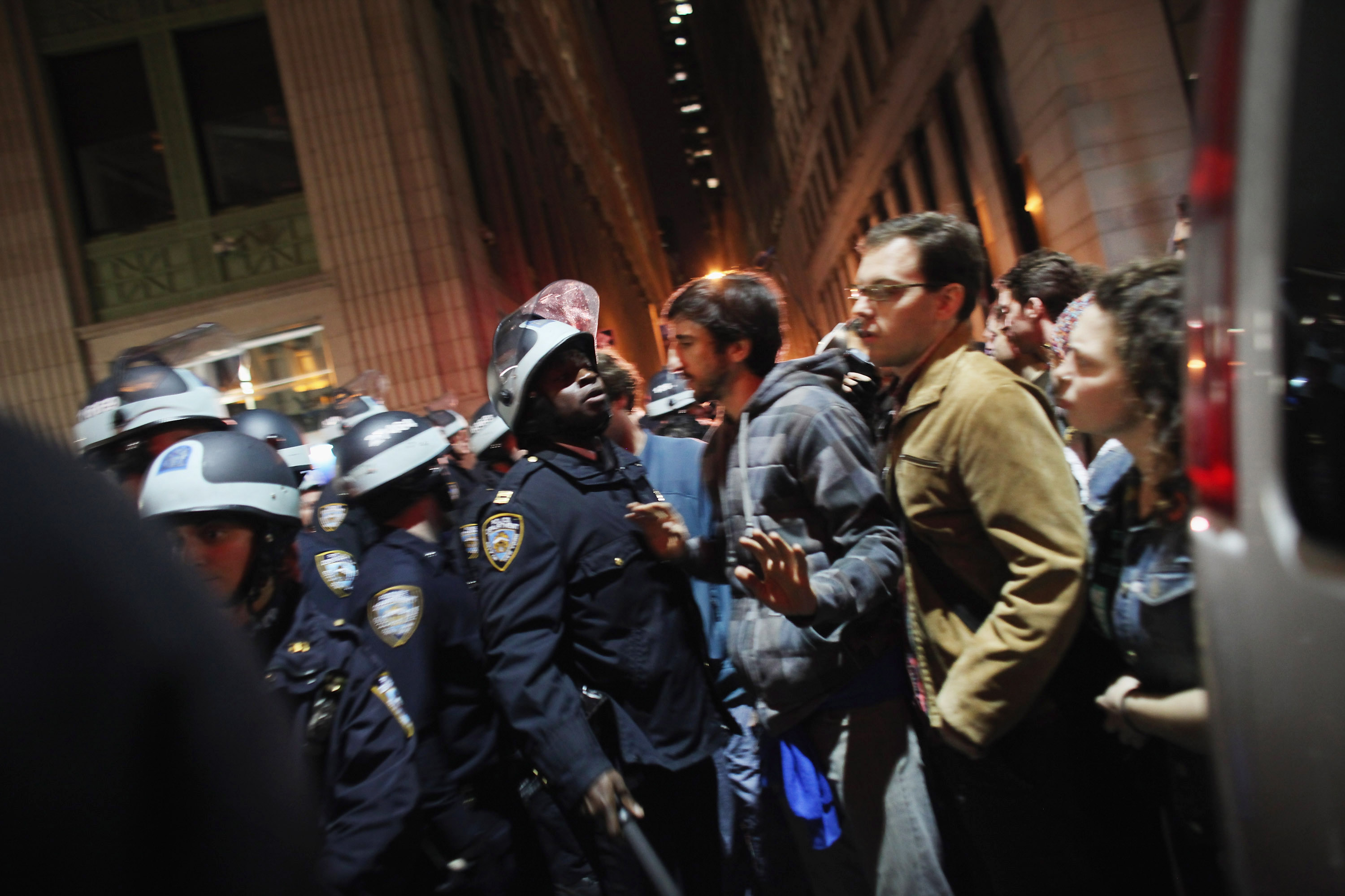 Need to Know News: Police evict Occupy Protesters from New York park; Sandusky admits he 'horsed around'