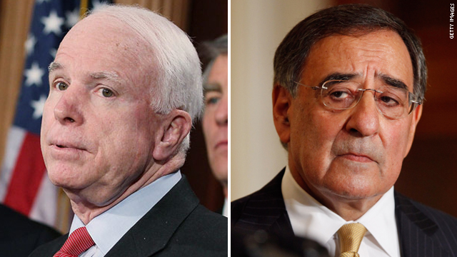 McCain clashes with Panetta over U.S. troop withdrawal from Iraq