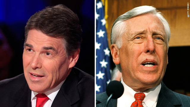 Perry, Hoyer spar over Perry plan