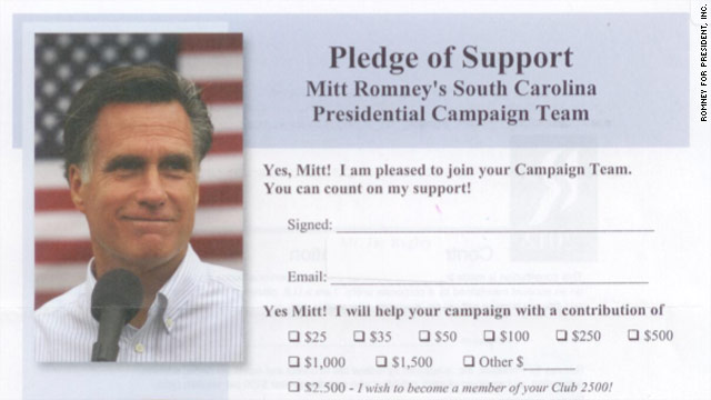 Romney mail hits South Carolina