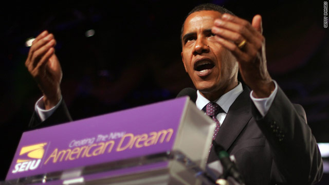 Endorsing Obama, SEIU says president for 99%