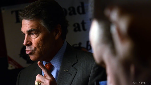 Perry accurately predicts flub headline