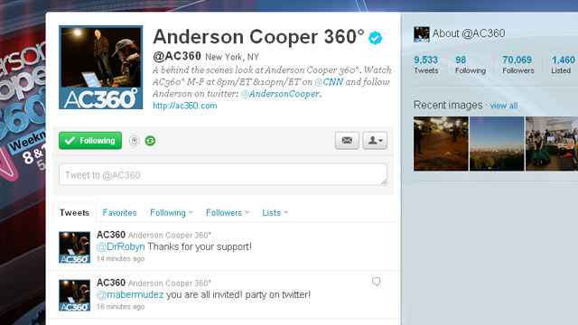 Thank you @AC360 Twitter friends!