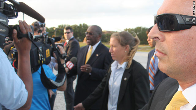 Cain speaks out on Secret Service protection