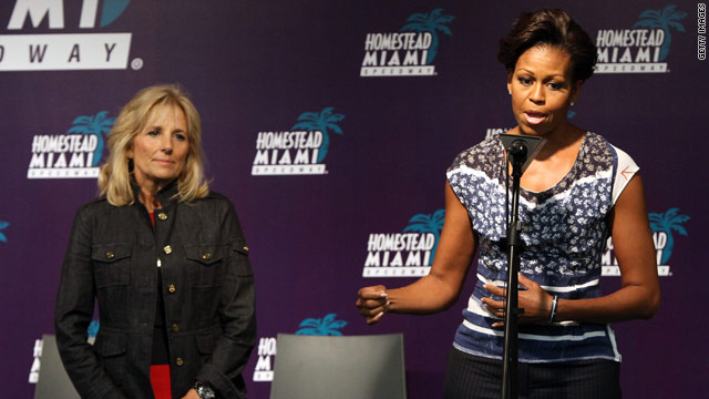 First lady &amp; Mrs. Biden greeted with boos at NASCAR event