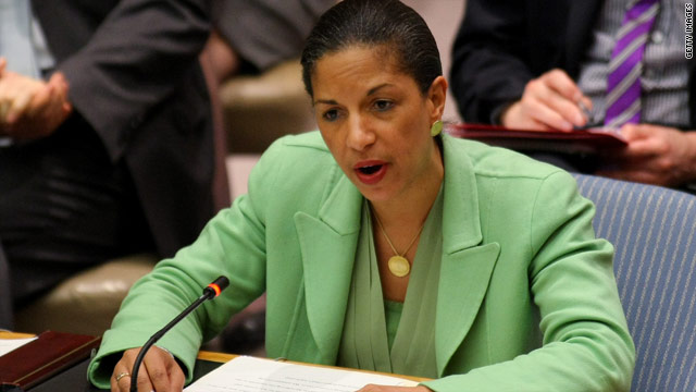 Clinton stands by Rice after calls to step down