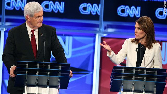 Bachmann dings Gingrich over immigration - again