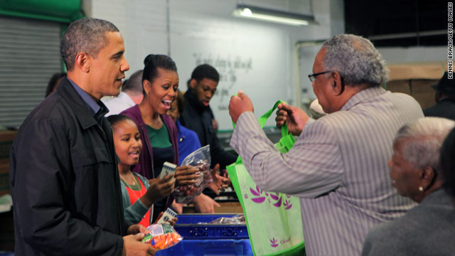 POTUS and First Family give back