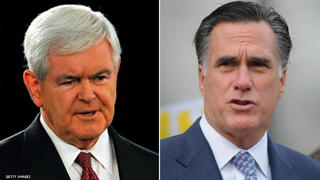 Gingrich moves into new mode: Attack Romney