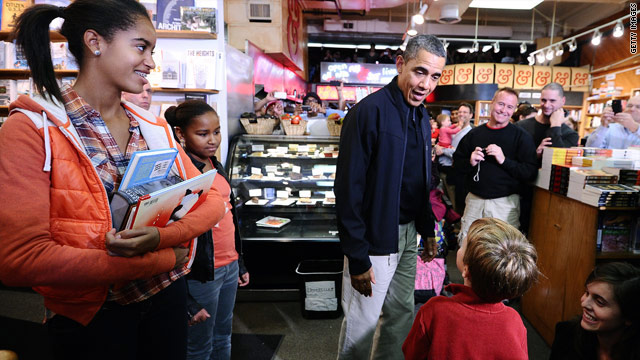 President&#039;s retail therapy for &#039;Small Business Saturday&#039;