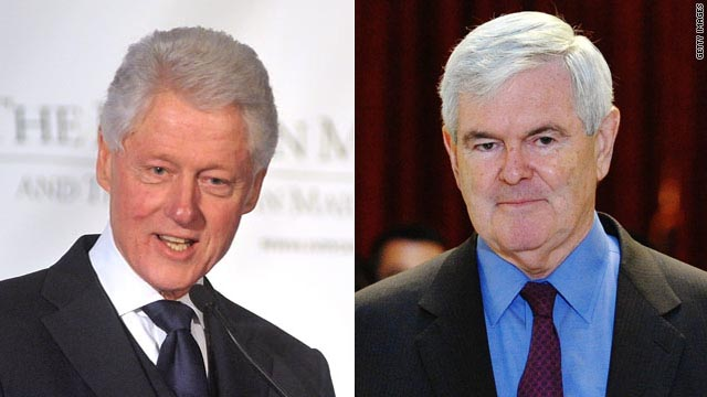 Bill Clinton says Gingrich surge a result of thoughtful positions