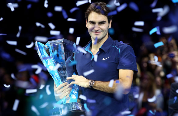 Roger Federer won a record sixth ATP World Tour Finals title in London.
