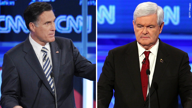 Romney on Gingrich: He's a 'lifelong politician'