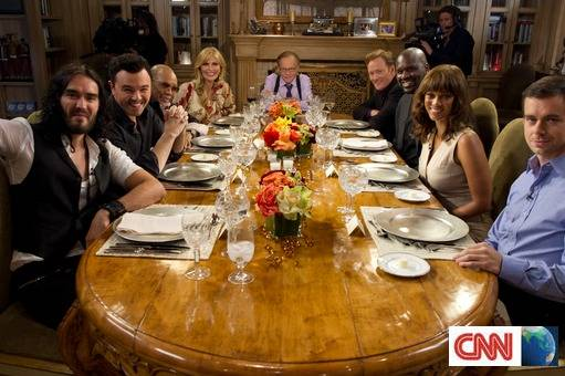 PREVIEW: CNN International Special Programming Information – A Larry King Special: A Dinner with the Kings